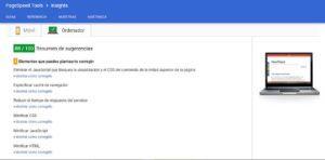 page speed de google