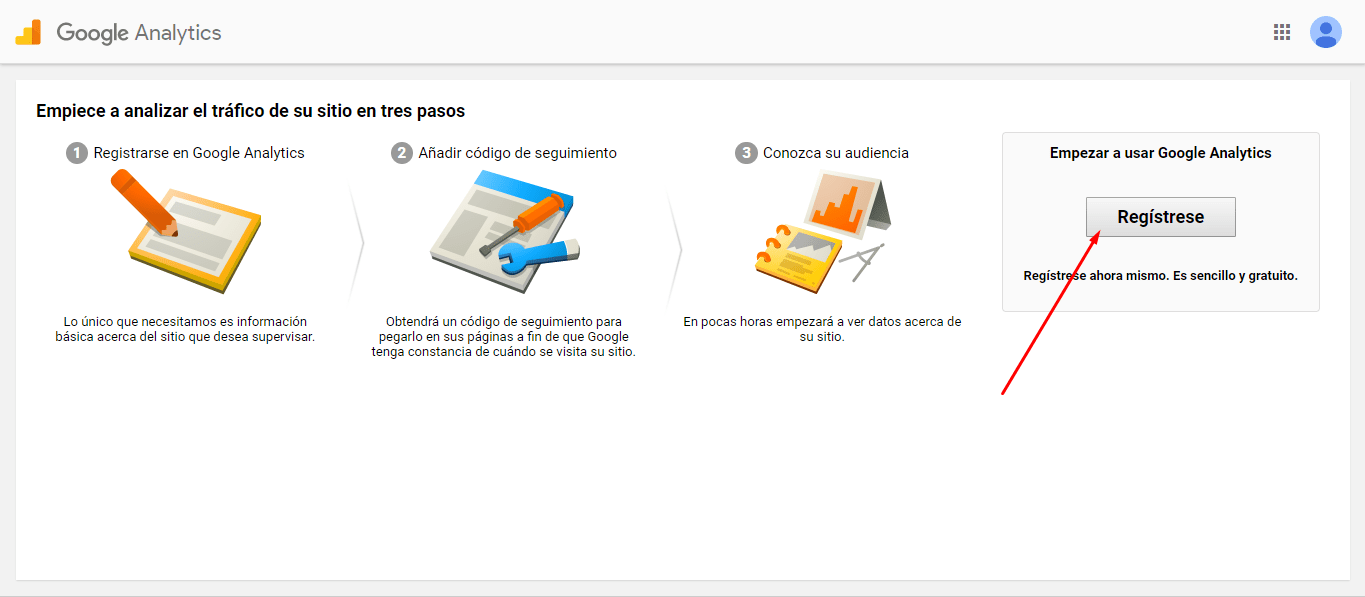 GOOGLE ANALYTICS REGISTRARSE