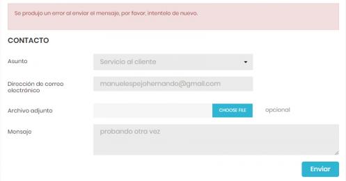 error formulario de contacto prestashop 1.7